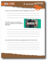 Free Activity Sheets for Elementary Children on What It Means to Apologize