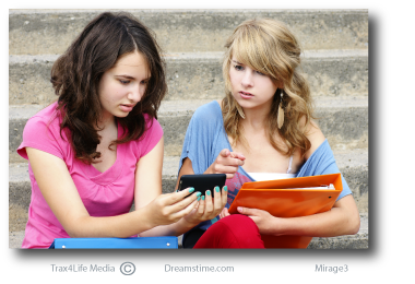 Girls upset at texting