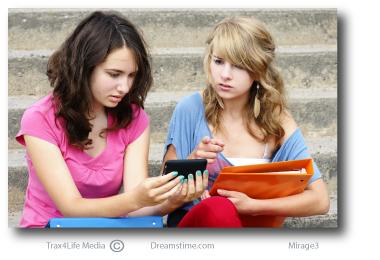 Girls upset at texting
