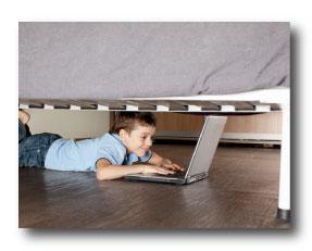 Kid Gambling Under Bed