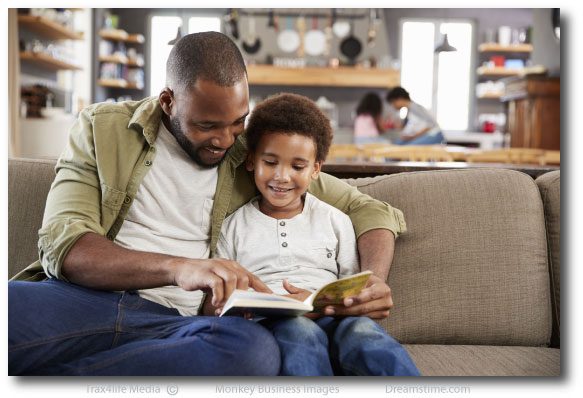 Father and Son reading 2