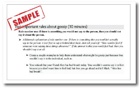 Gossiping Lesson Plan SamplerSmaller
