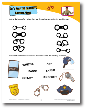 Worksheet on police handcuffs