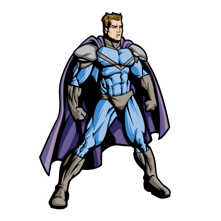 Superhero Blue Standing