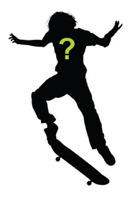 Silhouette of Skate Boarder