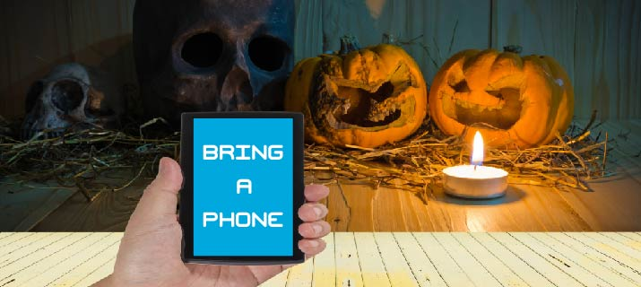 Cell Phone and Pumpkin
