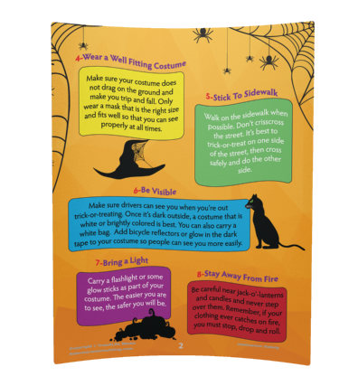 Halloween Safety Booklet for Elementary Kids