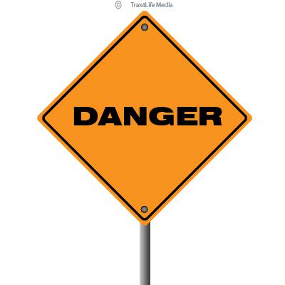 Gambling Danger Road Sign