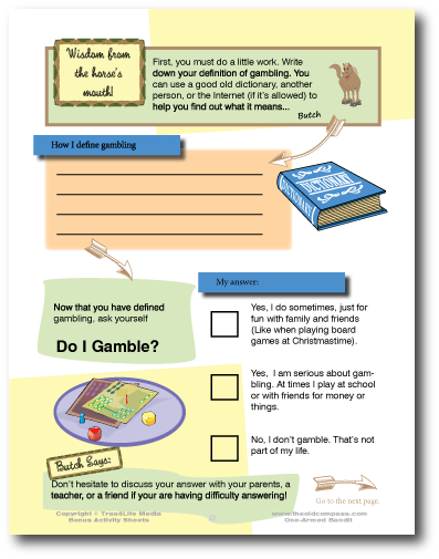 Gambling Activity Sheet