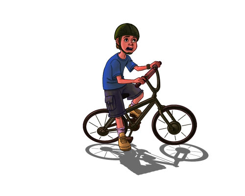 Ryan on Bicycle