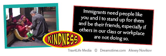 Showing kindness to Immigrant