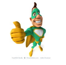Super Heroe with Thumb Up