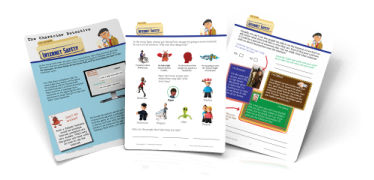 Character Worksheets for elementary KIds
