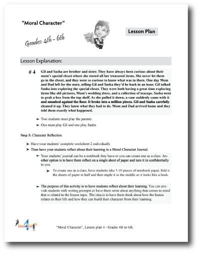 Moral Courage Lesson Plan
