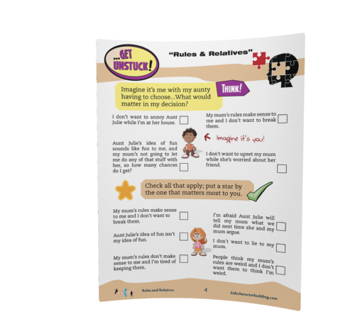 Rules and Relatives worksheet