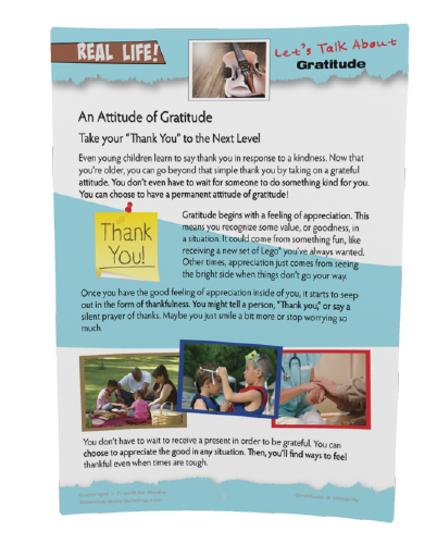 Gratitude worksheet